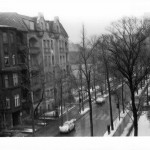 A photo from my home on Gössler-Straße, Circa 1962. The church is on a kind of circle at Friedrich-Wilhelm-Platz.  My father was in the Air Force at Tempelhof Air Force Base.