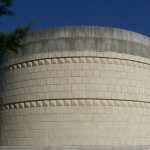 The outer wall of the observatory, before the dome from Mississippi is added.