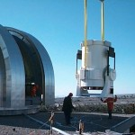 Lifting the telescope tube and elevation axis into the dome