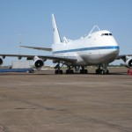 In Houston, 2010 for flight testing, the 747 used to move the shuttle was often parked next to the plane used to support our experiments