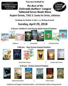 Tattered Cover Poster 2018 CAL Awards Finalists