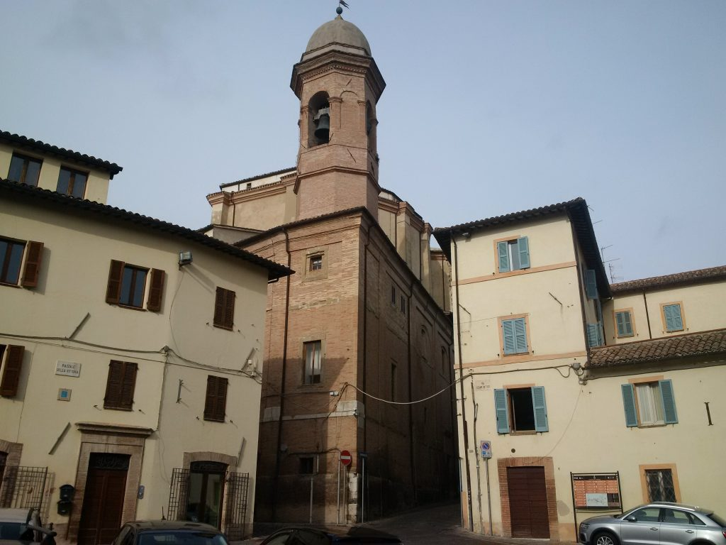 Santa Maria in Via church, just a few hours before the earthquake
